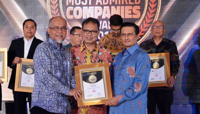 PT. Toyota Motor Manufacturing Indonesia (TMMIN) menerima penghargaan Most Admired Companies