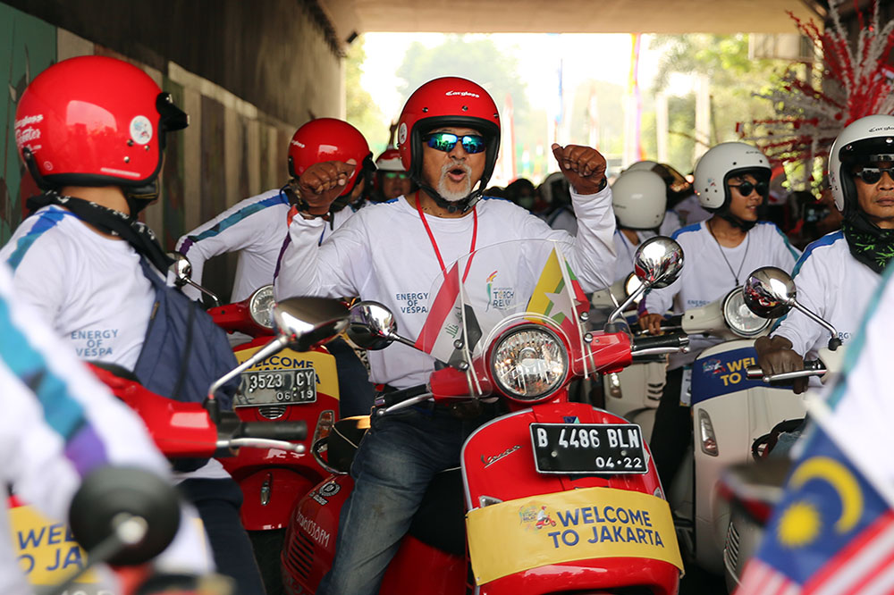 Vespa Torch Relay Asian Games 2018