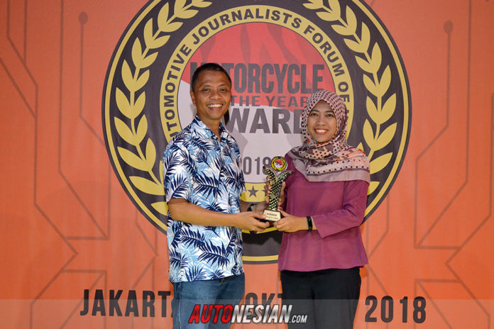 Honda PCX Hybrid FORWOT Motorcycle of The Year 2018