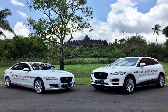Jaguar f-pace-dan Jaguar XF Borobudur Marathon 2018