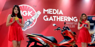 Decals Motor edisi NGK Busi Indonesia