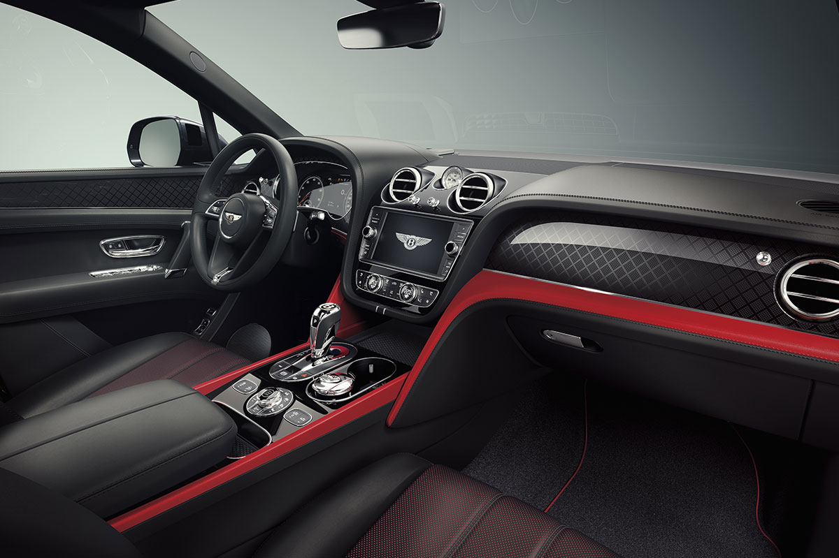 Bentley Bentayga Deign Series Pillar Red Interior