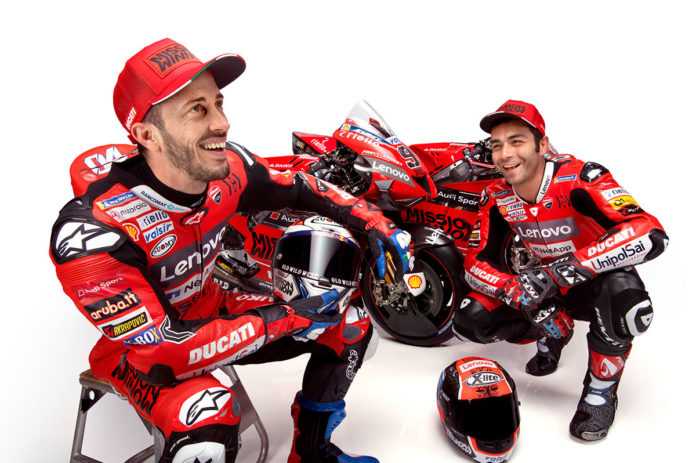 Motorola Ducati Corse Dovizioso Petrucci and the Desmosedici GP