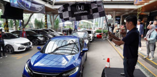 New Honda Civic Hatchback RS media test drive jakarta