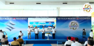 Suzuki Indonesia Perayaan 50 tahun virtual ceremony