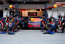 red bull racing pit stop