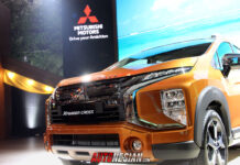 industri mitsubishi xpander cross sunrise orange indonesia